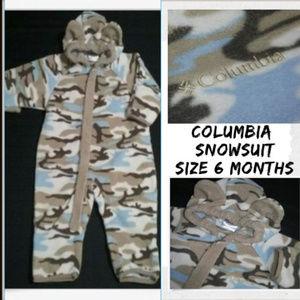 Columbia Boys BEAR Camouflage Fleece Snowsuit